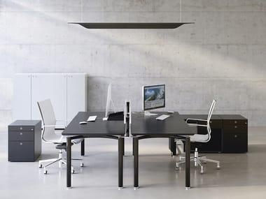 Rectangular wooden workstation desk MÈTA | Rectangular office desk