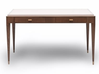 Rectangular cherry wood writing desk with drawers M 1611   Writing desk