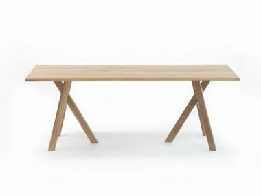 Rectangular solid wood table M LUNCH TABLE