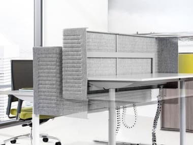Sound absorbing polyester desktop partition M-SCREEN