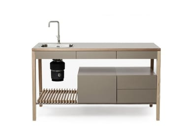 Modulo cucina freestanding in legno M1004 By MINT FACTORY