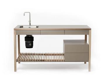 Wooden kitchen unit M1004