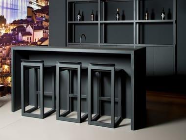 Bancone bar in alluminio M2 | Bancone bar