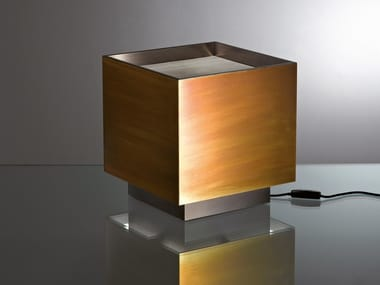 Brass table lamp MA 25 LIGHT CUBE