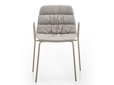 Upholstered chair with armrests MAARTEN | Chair with armrests