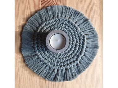 Round cotton placemat MACRAME COASTER