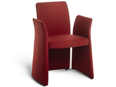Technical fabric chair with armrests MADAM