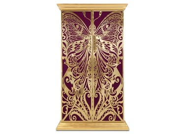 Gold leaf wardrobe with drawers MADEMOISELLE