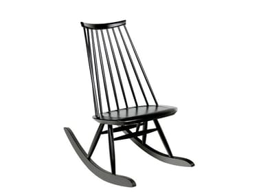 Rocking birch easy chair MADEMOISELLE | Rocking easy chair
