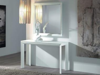 Rectangular aluminium console table MADISON