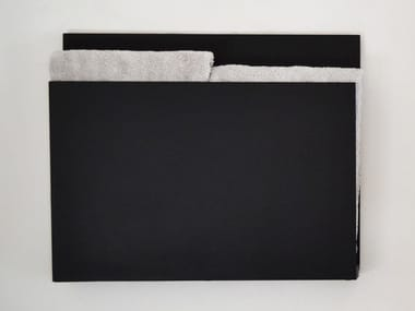 Wall-mounted electric aluminium towel warmer MAGAZINE BLACK