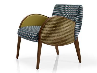 Cadeira lounge de tecido com braços MAGEE   Cadeira lounge