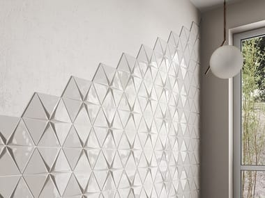 White-paste 3D Wall Cladding MAGICAL 3
