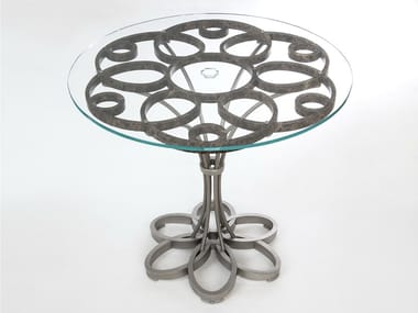 Marble, glass and Stainless Steel table MAGMA