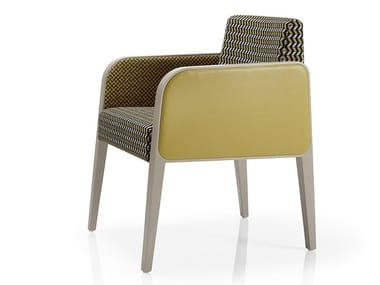 Cadeira lounge de tecido com braços MAGNA | Cadeira lounge com braços