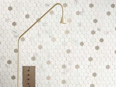 Mosaico in ceramica MAGNIFICA | Mosaico Circle Statuario