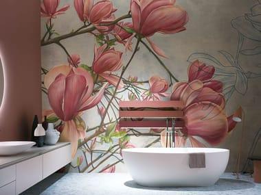 Papel de parede de tecido não tecido de flores MAGNOLIA IN BLOOM