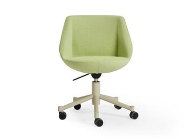 Swivel fabric chair with 5-spoke base MAGNUM | Chair with castors