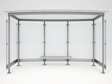 Pensilina in acciaio e vetro MAGNUM TRASPARENT