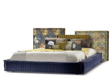 Upholstered fabric bed MAH JONG | Bed