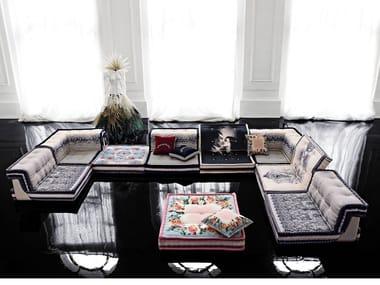 Modular fabric sofa MAH JONG | COUTURE