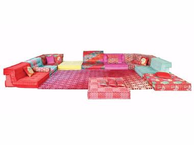 Sectional Modular Fabric Sofa MAH JONG   KENZO TAKADA