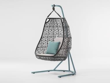 Synthetic fibre garden hanging chair MAIA   Garden hanging chair