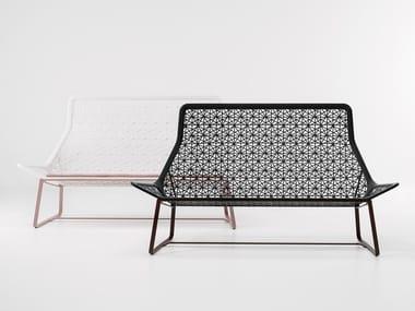 2 seater synthetic fibre garden sofa MAIA | Garden sofa