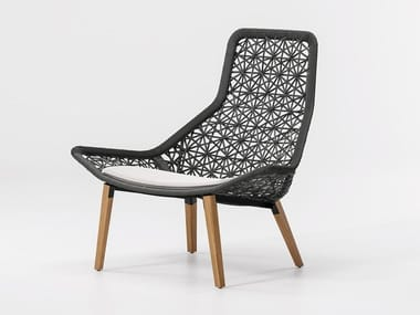 High-back synthetic fibre garden armchair MAIA | Garden armchair