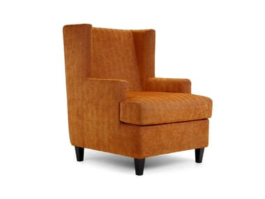 Upholstered fabric armchair with armrests MAIDIN | Armchair