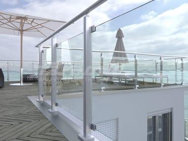 Glass and aluminium balustrade MAIOR COLORS VISION
