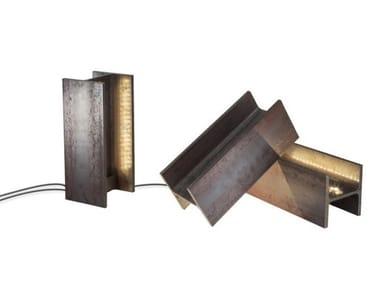 LED direct-indirect light steel floor lamp MAIS PLUS QUE CELA JE NE PEUX PAS   Floor lamp