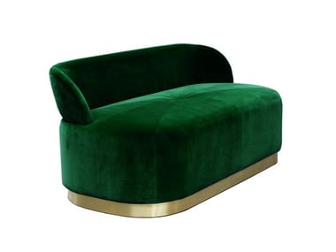 Upholstered velvet bench with back MAJESTIC | Bench