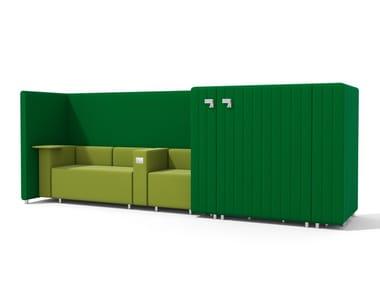 Sectional modular high-back sofa MAJI SISTEMA 3