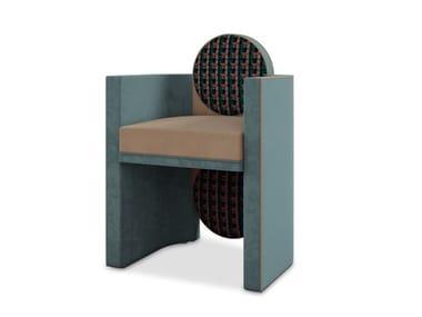 Upholstered velvet chair with armrests MAK SUH MUH