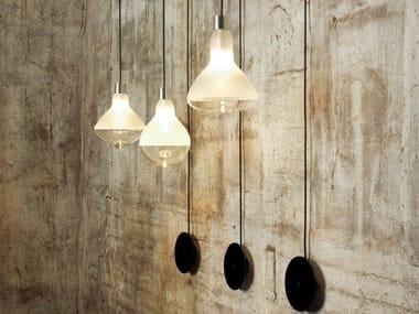 Indirect light satin glass wall lamp MAKEUP | Wall lamp