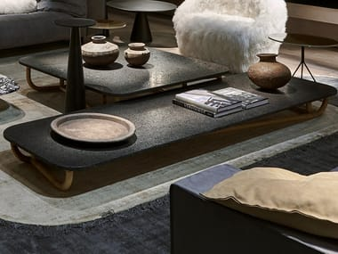 Low rectangular coffee table for living room MALACCA