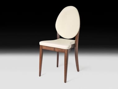 Wooden chair with integrated cushion MALAGA