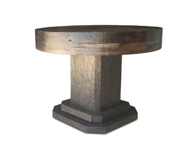 Round reclaimed wood coffee table MALBEC