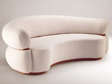 Curved upholstered fabric sofa MALIBU | Curved sofa