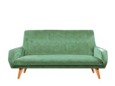 Upholstered velvet sofa MALIBU