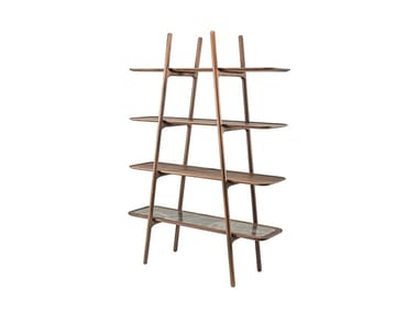 Open solid wood shelving unit MALIN | Open shelving unit