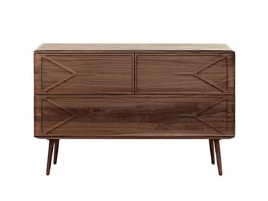 Solid wood sideboard with drawers MALIN | Sideboard with drawers