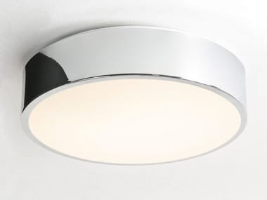 Glass and steel ceiling light for bathroom MALLON PLUS