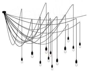 Lampada a sospensione a LED in plastica MAMAN | Lampada a sospensione