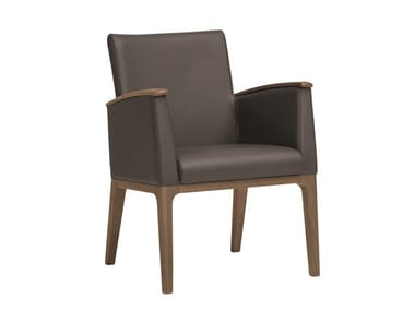 Leather easy chair with armrests MAMY   CONTRACT   Easy chair
