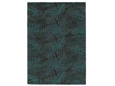 Handmade rectangular wool rug MANAUS