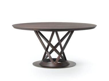 Tavolo rotondo in legno MANDARIN