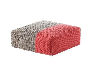 Wool pouf MANGAS SPACES | Pouf