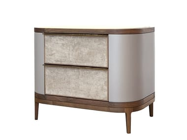 Wooden bedside table with drawers MANHATTAN   Bedside table